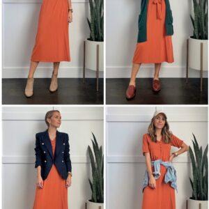 rust dress merrickwhite collection