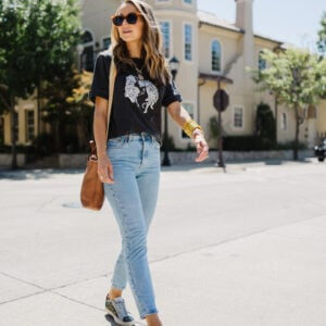 how to wear statement sneakers