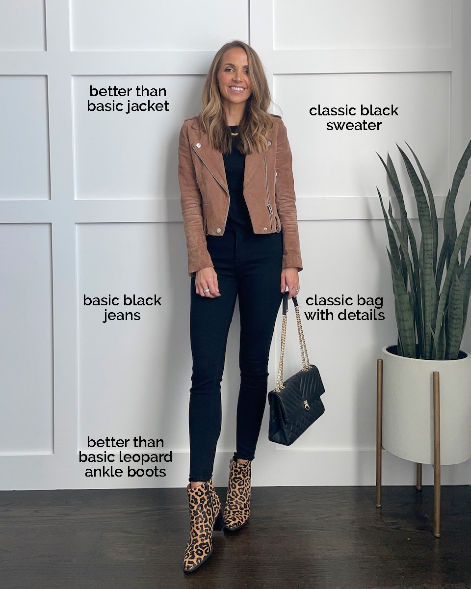 leopard boots and suede jacket shoes for fall