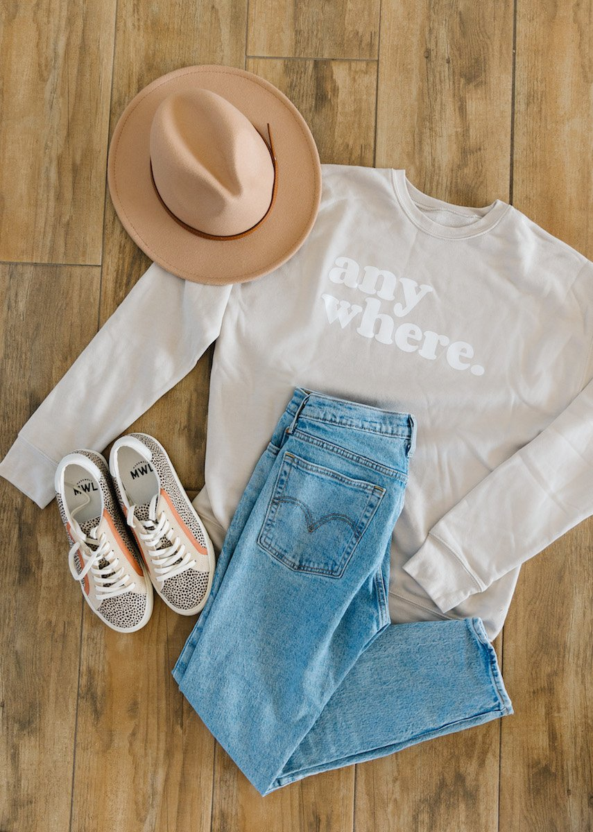 anywhere sweatshirts