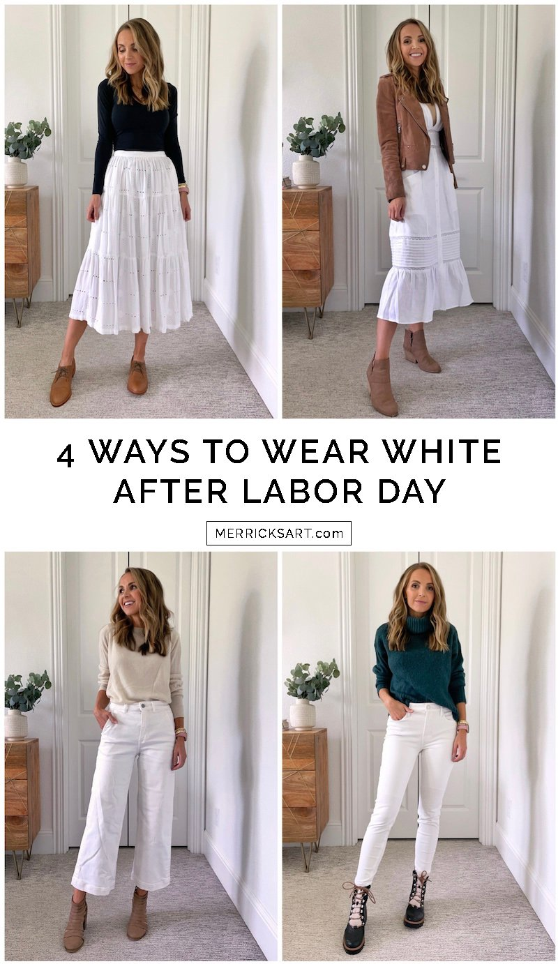4 ways to wear white after labor day outfits