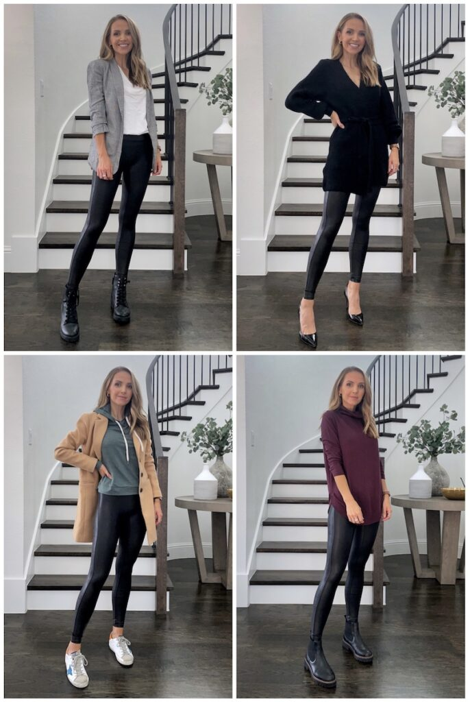 leather leggings outfits