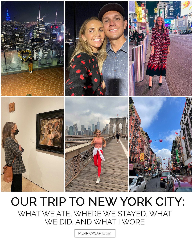 new york city fall trip