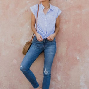 Three Ways to Wear A Simple Button Down Top