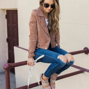 10 Ways To Wear a Suede Moto Jacket