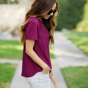 DIY FRIDAY: SCOOPED HEM BLOUSE WITH PUFFED SLEEVES