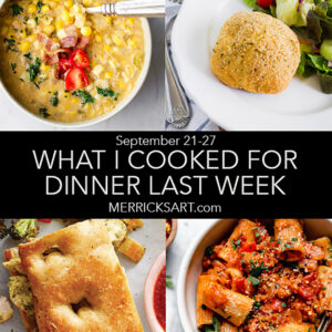 collage of weekly menu