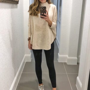 weekend recap - long sweater and leggings