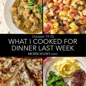 weekly menu october 25 dinner ideas