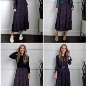 How to wear a midi dress in the fall and winter